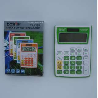 Calculator POSITIF PC-718 Alat Bantu Hitung Kalkulator 12 digit
