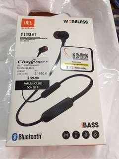 JBL wireless earpiece T110 BT