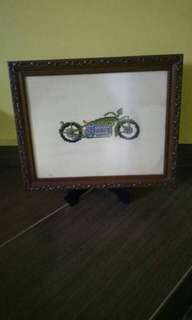 Frame gambar indian motorcycle
