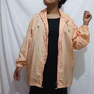 Peach parachute jacket