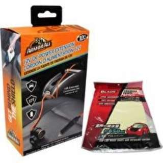 Armor All AVT8-1005 12V DC Power Extension(Orange) + Blade Chamois Towel