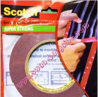Genuine Made in USA Scotch 3M Double Sided Super Strong Exterior Automotive Acrylic Foam Mounting Tape