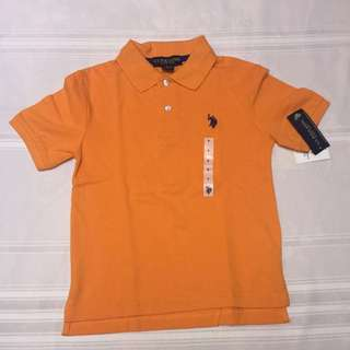 U.S. Polo Assn orange polo shirt