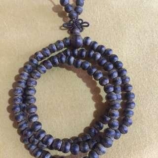 {FS138} 4mm vietnam Wild agarwood necklace
