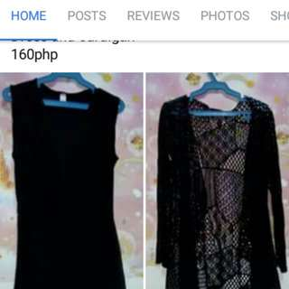 Dress and cardigan for 160php