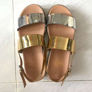 Zara metallic sandals