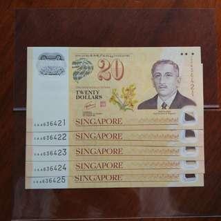 CIA 40 Sg $20 AA 5run