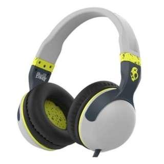 Skullcandy Hesh 2 Over-Ear Headphone with Mic, Gray/Hot Lime