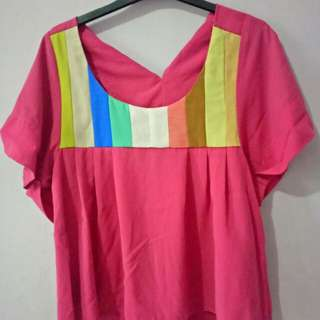 Rainbow Pink Blouse