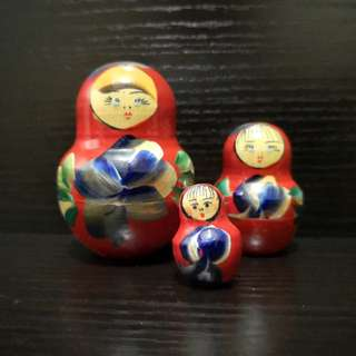 Wooden Russia doll 3in1