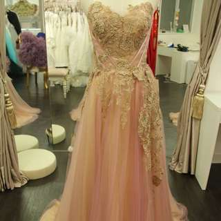 Pink wedding grown 晚裝 只限面交 face trade at MTR