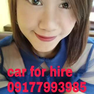 Car for rent with driver(private service)