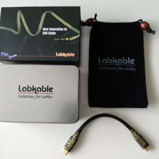 Brand new Labkable audiophile cable (type c to micro) for Android phones