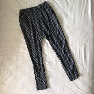 URBAN OUTFITTERS Drop Crotch Pants in Tribal Print