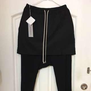 全新DRKSHDW 17S 裙款長褲XS (腰圍29-32)