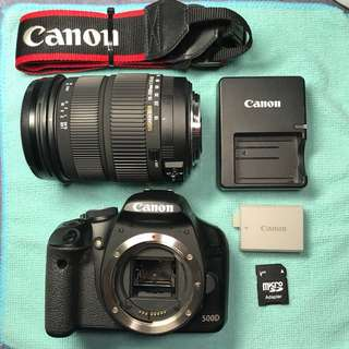 Canon EOS 500D + Sigma 18-200mm DC OS for clearance. CHEAP!