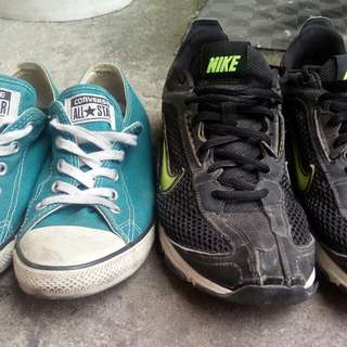 Converse and nike