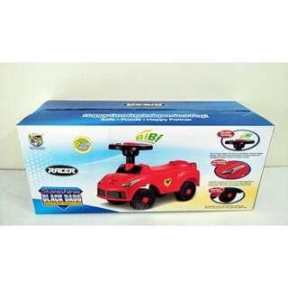 ✶PALI PALI✶全新 紅色義大利兒童滑步車(方向盤按鈕有BiBi聲)售價含郵