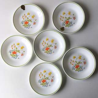 (RESERVED) 6pc Vintage Corelle Wildflowers Side/ Dessert Plates