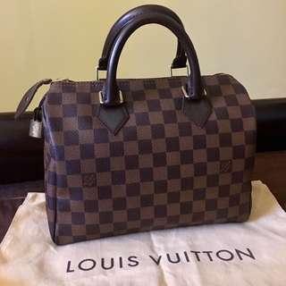 Louis Vuitton Speedy Bandouliere 25 Damier Ebene