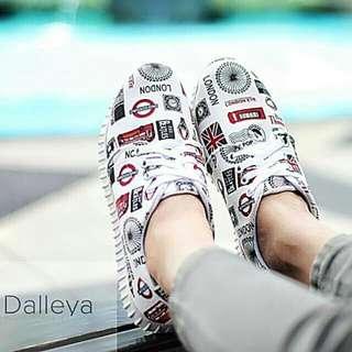 sepatu wanita flat shoes casual kets sneakers casual santai  LONDON