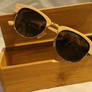 Wood sunglasses [cuci gudang]