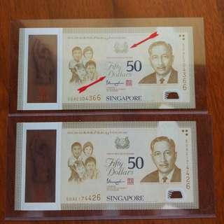SG50 Notes $50 Error