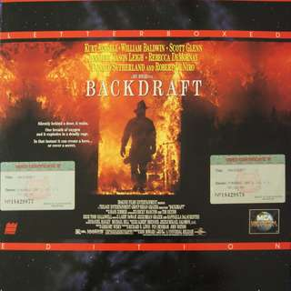 Laser Disc Movie - M12   Backdraft