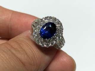 2.78卡藍寶石鑽石戒指