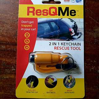 RESQME 2in 1 Keychain Rescue Tool