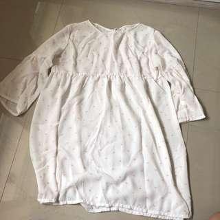 White Oversized Top