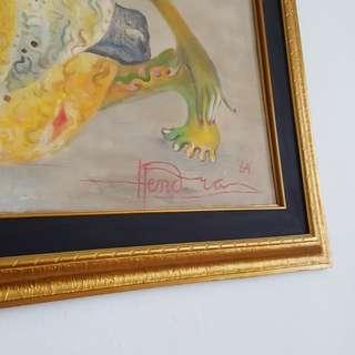 Lukisan Hendra G besar