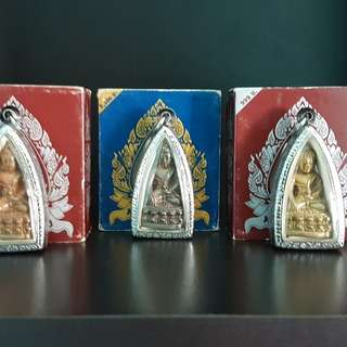 """Phra Kring """"Luang"""" Wat Suthat Phim Tamada Nur : gelaitong & rose gold plated  & nawa Release on 23rd july 2006 ( year 2549 )  Please pm THIS SET  for price ....."""