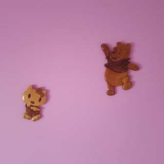 Wooden Hello Kitty & Winnie the Pooh Wall Decor
