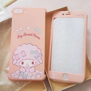 IPhone 7 plus 電話保護套 手機殼 粉紅色melody