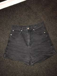 Dissh Boutique Black Denim Shorts