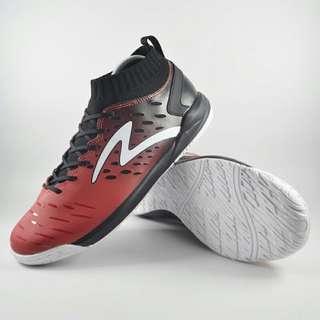 Sepatu futsal specs original merah hitam putih
