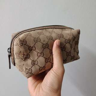 Auth. Gucci Monogram Mini Clutch