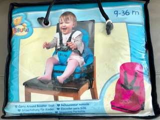 Bruin portable booster seat (9-36mths) - great for travelling