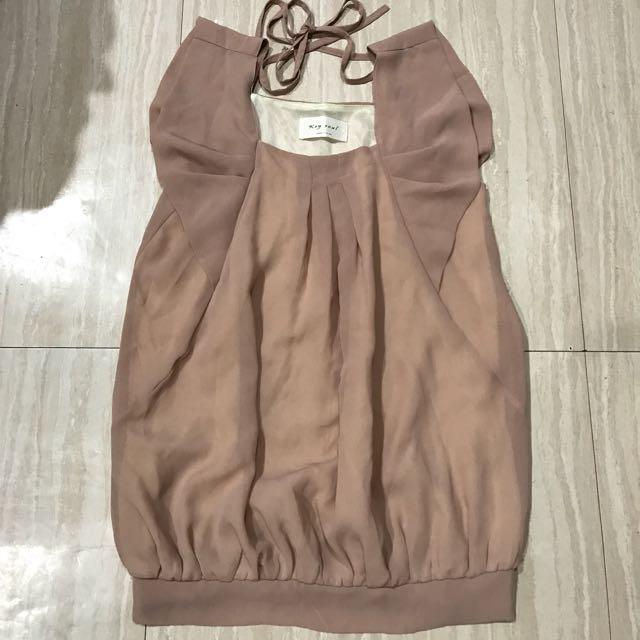 $150正韓裸色雪紡上衣