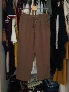 Et cetera:  brown lazy pants