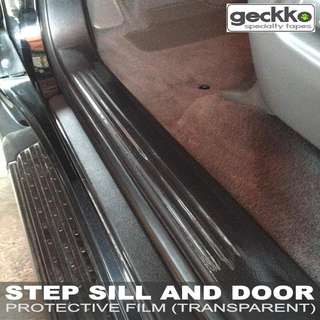 STEP SILL AND DOOR PROTECTIVE FILM by Geckko Specialty Tapes