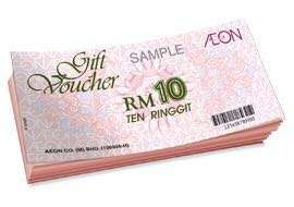 Aeon voucher - 10% off voucher value