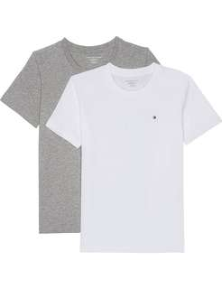 100% New and Real Tommy Hilfiger 純色 棉 Tee 灰 白 2件