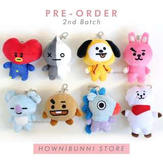 [PO] BT21 Bag Charm Doll Non-official