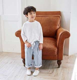 Oversize Stripes Pants