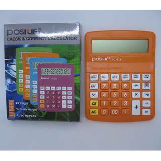 Calculator POSITIF PC-618 Alat Bantu Hitung 12 Digit