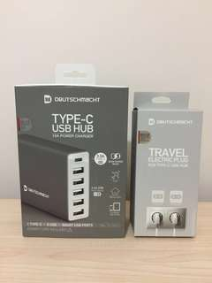 USB HUB WITH TRAVEL ELECTRIC PLUG - 旅行充電插頭 (DEUTSCHMACHT )