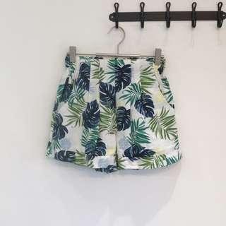 葉子棉麻短褲