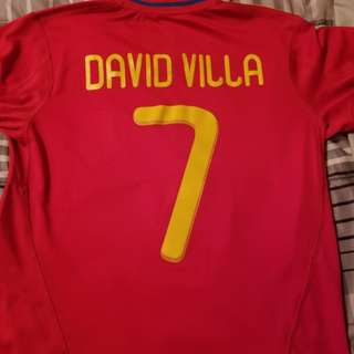 David Villa Adidas Spain FiFA 2010 world cup soccer jersey